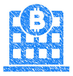 bitcoin office building grunge icon vector image