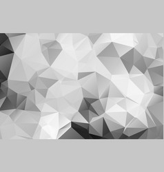 Black and white abstract background polygon vector