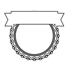 black silhouette heraldic irregular round stamp vector image