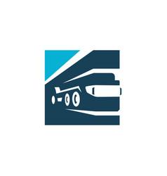 boom truck crane vector image