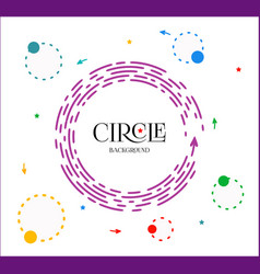 bright violet circle infographic with header vector image