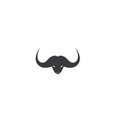 bull head icon vector image