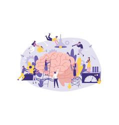 business concept neuromarketing brainstorm ai a vector image