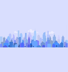 City landscape in blue vector