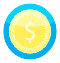 Coin golden money icon vector image