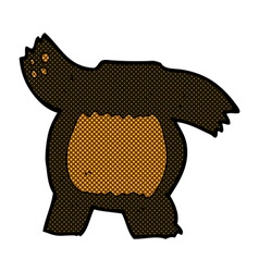 comic cartoon black bear body mix and match or add vector image