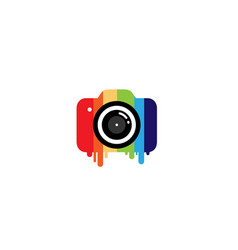 creative colorful camera logo design symbol vector image