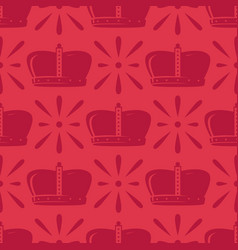 Crown seamless pattern vector