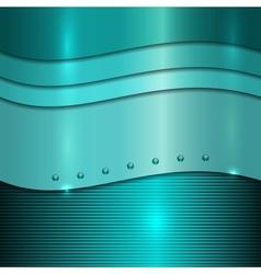 Cyan metal background vector