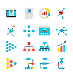 data graph objects vector image