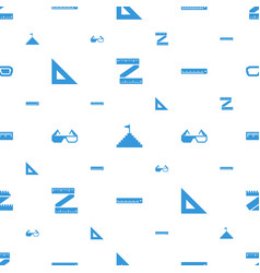 Dimension icons pattern seamless white background vector
