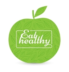 Eat a healthy diet Green Apple vector image