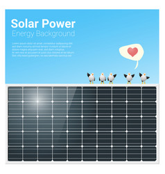 Energy concept background with solar panel 1 vector