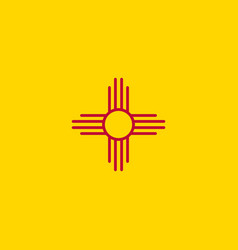 flag new mexico vector image