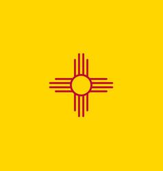 Flag new mexico vector