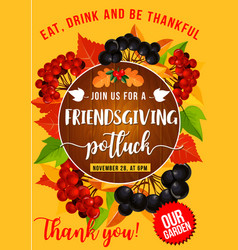 Friendsgiving potluck thanksgiving autumn holiday vector