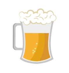 full beer cup graphic vector image