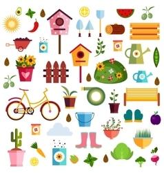 Garden pattern nature vector image