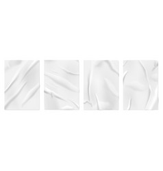 glued paper wall posters blank wrinkled surface vector image