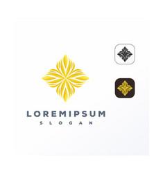 Gold ornament logo design ready to use vector