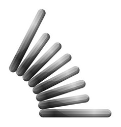 grey spring icon cartoon style vector image