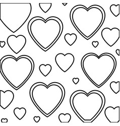 Heart love isolated pattern vector