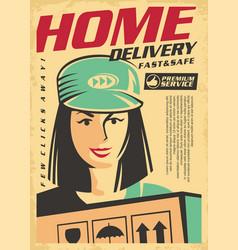 Home delivery premium service vector