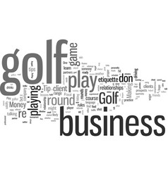 How to play golf and make money vector