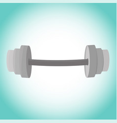 Image fitness barbell icon dumbbell exercises vector