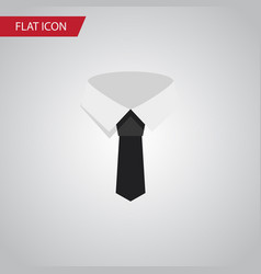 isolated cravat flat icon textile element vector image