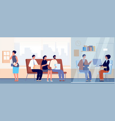 job interview in office occupation recruitment vector image