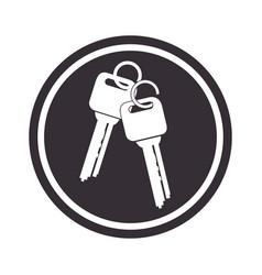 Keys car vehicle icon vector