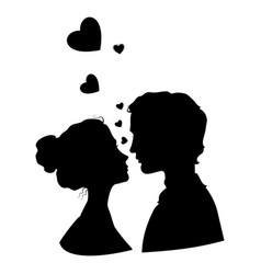 Kissing couple image vector