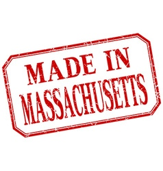 Massachusetts - made in red vintage isolated label vector