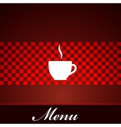 menu design with coffee or tea cup vector image