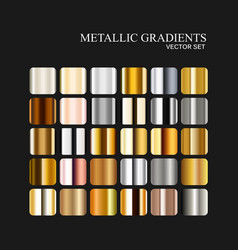 metallic silver golden and bronze gradient vector image