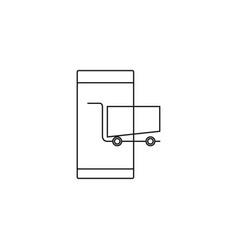 Mobile shopping icon vector