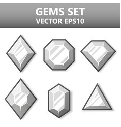 modern set of colorful gems for website or mobile vector image