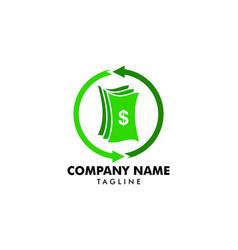 Money exchange logo template currency exchange vector