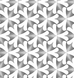 Monochrome striped pointy three pedal flowers vector