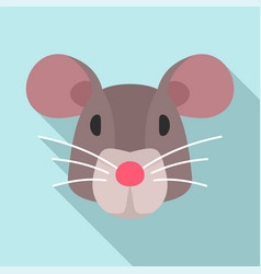 mouse head icon flat style vector image