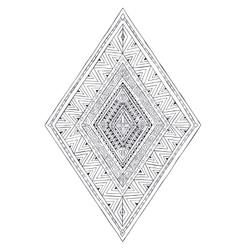 Original drawing ethnic tribal doddle rhombus 3 vector image