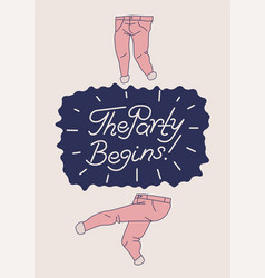 Party poster design with dancing trousers vector