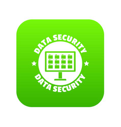 pc data security icon green vector image
