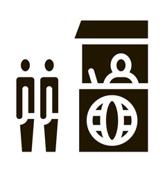 people on check control icon glyph vector image