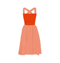 pink cute dress fashion style item vector image