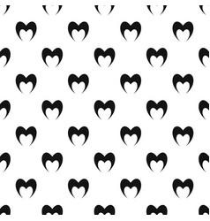 Prophetic heart pattern seamless vector