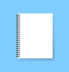 Realistic notebook template Blank cover design vector