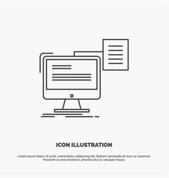 resume storage print cv document icon line gray vector image