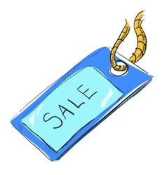 Sale luggage tag icon vector image